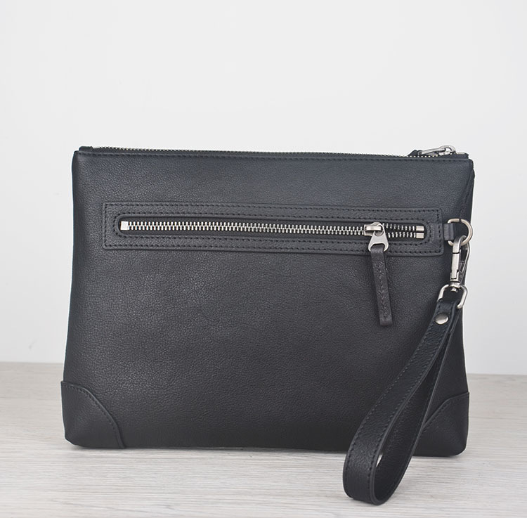 genuine leather guarantee Clutch bag High Quality Classic Business bags men Handbags clutches