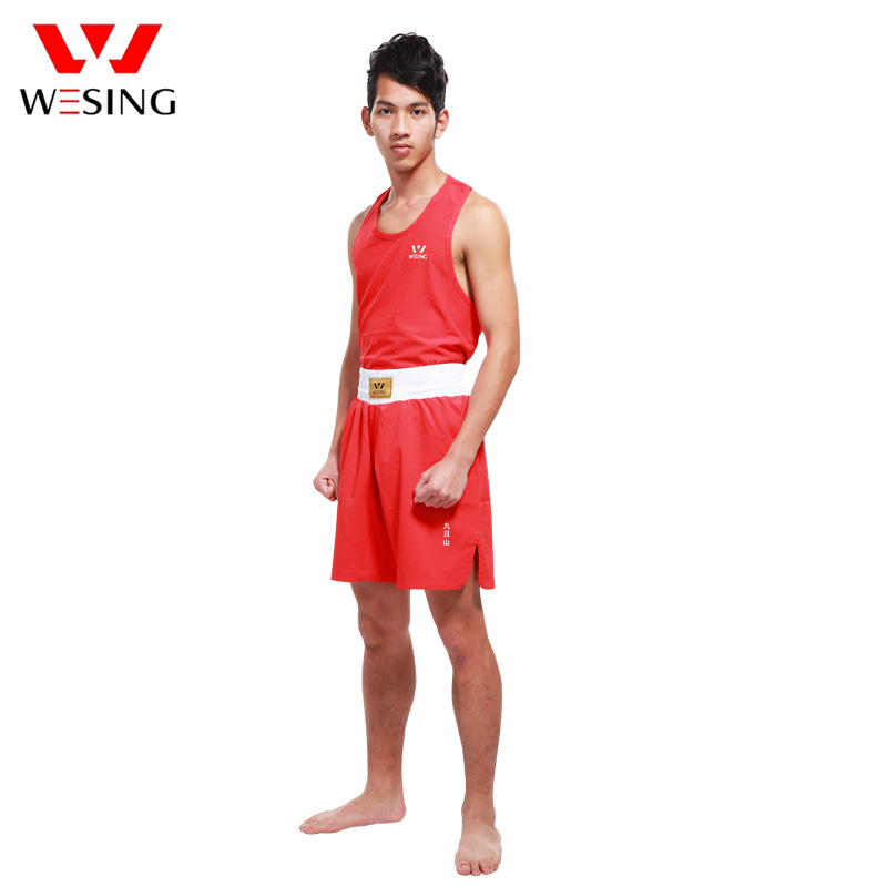 Wesing Kick Boxing Uniforms Muay Thai Combat Mma Fight Shorts Boxing Suit For Competition