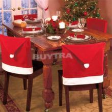 1 шт Санта Клаус красная шляпа стул задняя крышка Рождественский обеденный стол вечерние украшения для рождественской посуды украшения