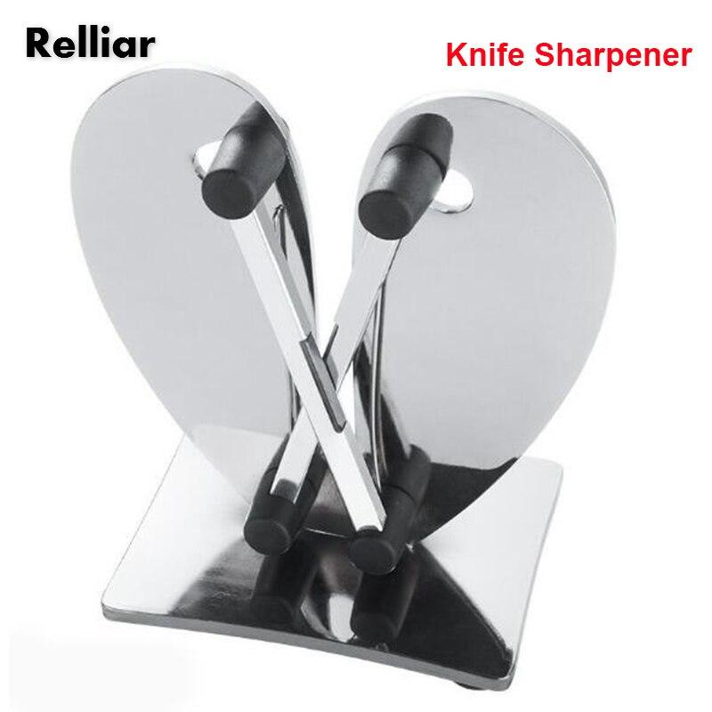 1pc Stainless Steel Edge Knife Sharpener Kitchen Tungsten Steel Sharpening Knife Polish Sharp Knives Hone Sharpen Kitchen Tool