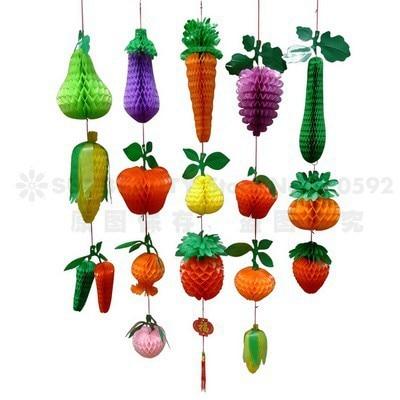 Acheter vintage papier en plastique d coration fruits et l gumes ensemble nid d - Decoration de legume et fruit ...