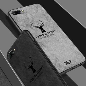 For huawei p20 lite pro Case Cover Fabric Vintage Deer Soft Case for huawei honor 7x 7a 7c 10 9i 9 v10 fashion Cloth Art Shell