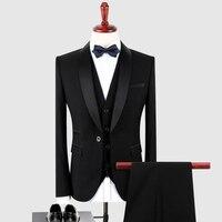 Últimas Bragas de la Capa Diseños Por Encargo Elegante Novio Tuxedo Chal Negro de Solapa Para Hombre Trajes de Boda Prom Party Dress Masculinidad