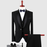 Latest Coat Pant Designs Custom Made Elegant Bridegroom Wedding Tuxedo Black Shawl Lapel Mens Suits Prom