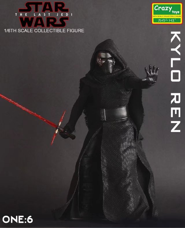 Crazy Toys Star Wars Kylo Ren Figure 1/10th Scale Collectible Toy 12 30cm crazy toys star wars kylo ren figure 1 10th scale collectible toy 12 30cm
