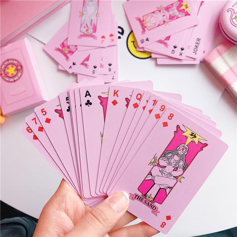 2 Kinds Anime 54 pcs Cosplay Cards Captor Sakura Tarot with Clow Cards Poker Gift Playing Cards 8