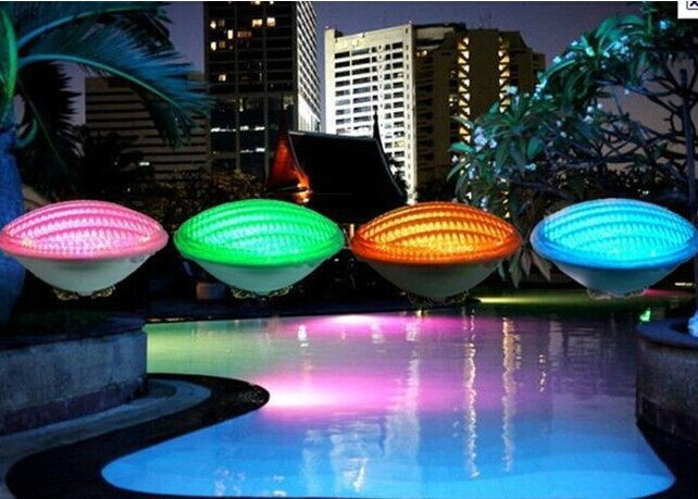 Price Discount24W RGB PAR56 LED Swimming Pool Light 12V IP68 351led Outdoor Lighting Underwater Pond lights for fountain piscina