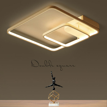 Simple modern master bedroom lamp atmosphere LED ceiling lamp square creative personality study warm home living room lamp