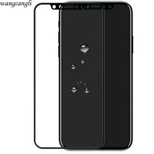 Wangcangli 3d tempered glass for iphone X 8 full coverage screen protector 4d apple accessories