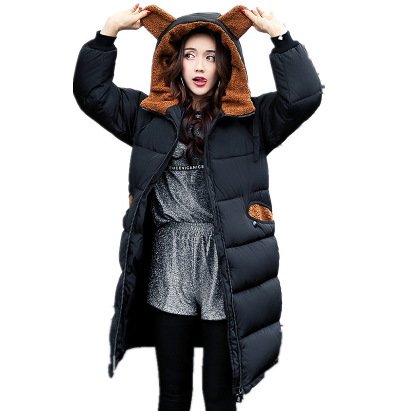 ALI TOPTINA JACKETS WOMAN Clothes Down Cotton-padded Girls Long Overknee Loose Jacket Winter Coat Jacket Women Winter Coat Women  naim fraimlite level long cherry ali