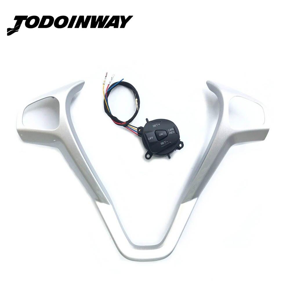 Volant cadre modifié interrupteur de contrôle de vitesse Kit de bouton de régulateur de vitesse pour Ford Fiesta MK7 MK8 ST Ecosport 2013