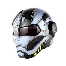Motorcycle Helmet Biker Moto Casque Motocross Riding Cruiser Vintage Retro Capacetes Motorbike Full Face Iron Man
