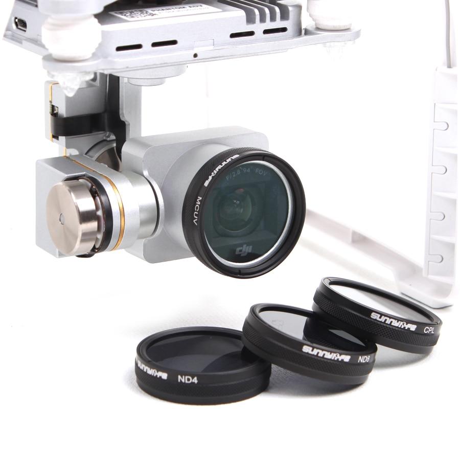 ND/CPL/MCUV Filter For DJI Phantom 3 4K Standard/ Advanced, DJI Phantom 3 Pro, Phantom 4