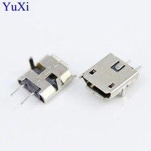 цена на 100pcs 2-pin mini MICRO USB 2 Pin Jack Interface Connector socket SMD SMT pcb dock Plugs DIY parts 2P female plug Mike 2PIN port