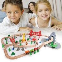 Высокое качество дерева пляж 100 шт. деревянный треки с автомобиля игрушки ребенка развивающие игрушки подарок