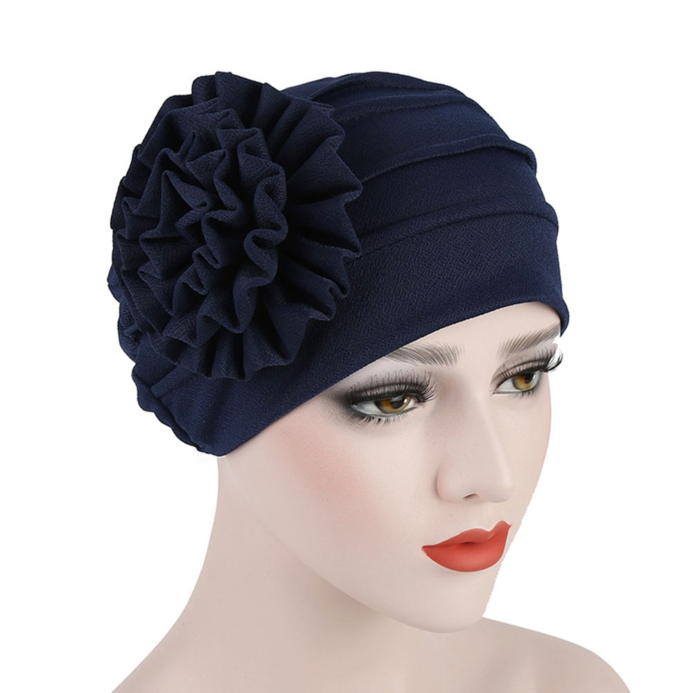 Women Flower Hair Loss Cap Turban Hat Cancer Elastic Fashion Chemo Cotton Head Wrap Hat Muslim Hijab Inner Caps #xm345 Excellent In Quality