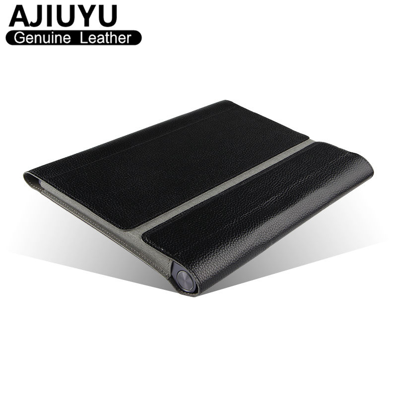 Genuine Leather For Lenovo YOGA Tablet 2 10 Case Sleeve Protective Smart Cover Tablet Yoga tab 2 1050F 1051L 1050 10.1 Cowhide new slim folio bracket for lenovo a7 20f standing tablet cover for lenovo tab 2 a7 20 flip protective tablet case