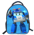 2016 Children Mini School Bags for Boys Girls 3D Cartoon Robocar Poli Schoolbag Kindergarten Baby Backpack Kids Mochila Infantil