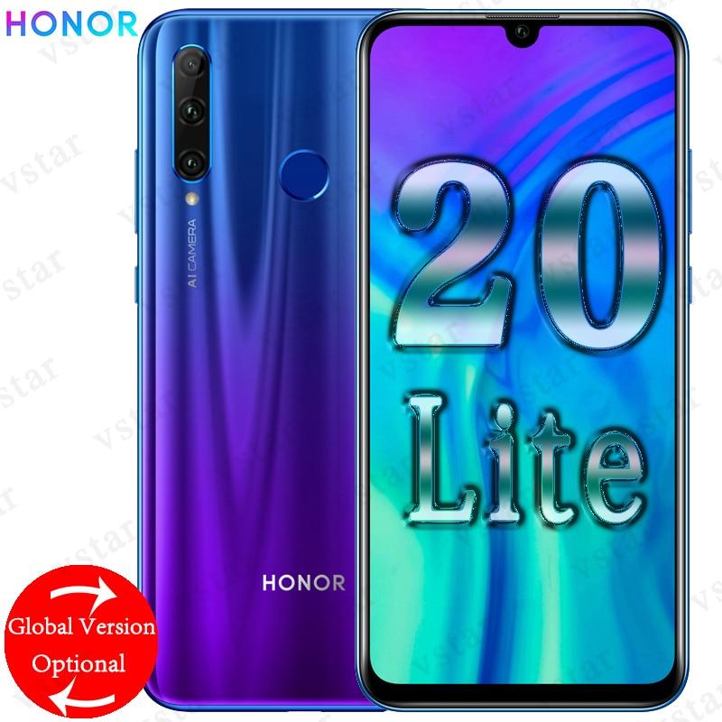 Global Version HUAWEI HONOR 20 lite 6 21 inch Mobilephone 4GB 128GB Kirin 710 Android 9