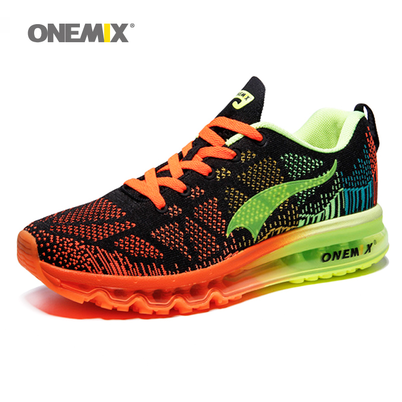 ONEMIX Air Løpesko For Menn 90 Kvinner Gratis Veving Sneaker Super Lette Sko Sneaker Breathable Mesh Athletic Outdoor Shoes
