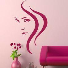 Hair Salon Girls Wall Transfer / Removable Vinyl Decal Art Sticker