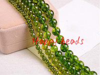 Natural Stone Green Peridot Round Loose Spacer Beads 6 8 10mm Pick Size For Jewelry