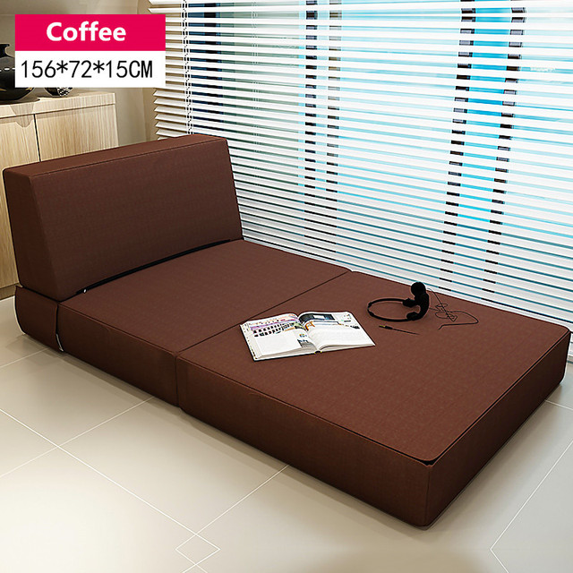 Modern Tri Fold Guest Bed With Washable Cover Bedroom Furniture Single Sleeping Futon Japanese