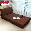 Modern Tri-Fold Guest Bed with Washable Cover Bedroom Furniture Single Sleeping Futon Bed Japanese Style Floor Sofa Daybed Chair