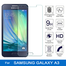 Tempered glass for samsung galaxy a3 screen protector film for samsung galaxy a3 a 3 2015 a300 a300f sm-a300f sm-a300fu coque