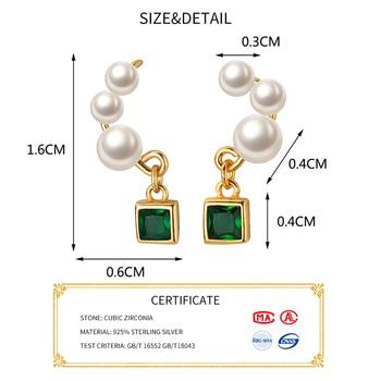 INZATT Real 925 Sterling Silver Pearl Tassel Drop Earrings For Elegant Women Wedding Party Cute Fine Jewelry 2019 Accessories 1