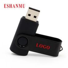 50 шт/партия Пользовательский логотип поворотный чистый черный цвет USB флэш-накопитель memory stick DIY логотип 2 ГБ 4 ГБ 8 ГБ 16 ГБ 32 ГБ