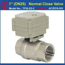 TF25-S2-C 2-полосная Нержавеющей Стали 1 «ДУ25 Нормально Закрытый Клапан С Обратной Связью Сигнала AC/DC9-24V 5 Провода (CR502) высокого Качества CE/IP67