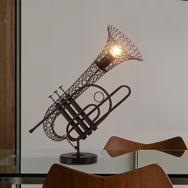 Commercial Table Lamps: American Style Retro Restaurant Table Lamp Creative