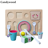 Candywood Baby Kids Simulation Breakfast Kitchen Set Bread milk Food Cooking Food Toys Educational Birthday Gift for girls toys
