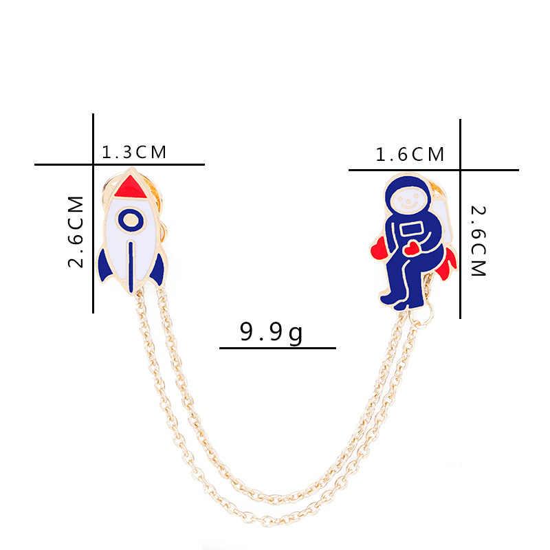 Esmalte Metal quente Piloto Animal Dos Desenhos Animados Urso Lobo Broche Pinos Emblema Do Botão Pin Colarinho Jaqueta Jeans para As Mulheres Menina Homens jóias Presente