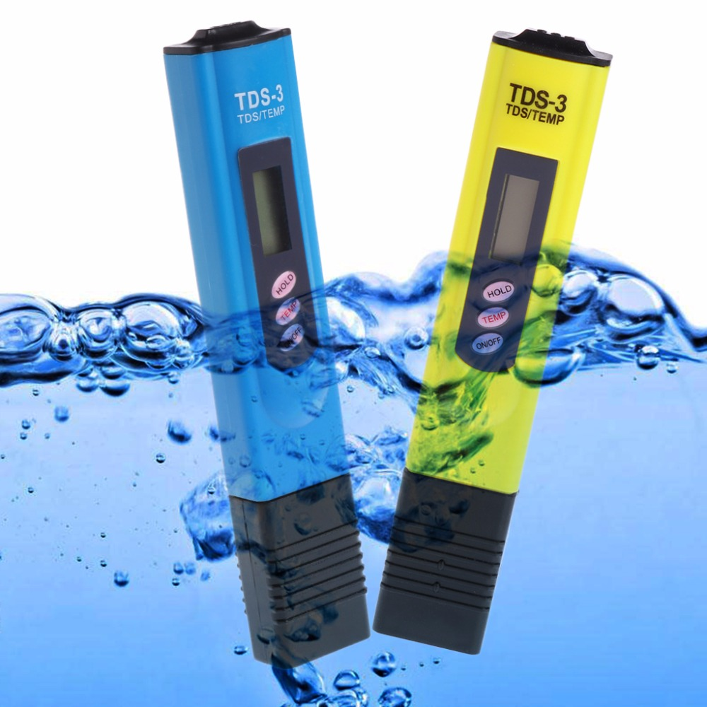 OOTDTY Portable TDS LCD Digital Pen Water Meter Temperature Meter PPM Filter Measurement Water Quality Purity Tester TDS Meter brand kedida digital tds meter pen type 0 1000 ppm lcd electrical conductivity meter atc aquarium pool water quality tester