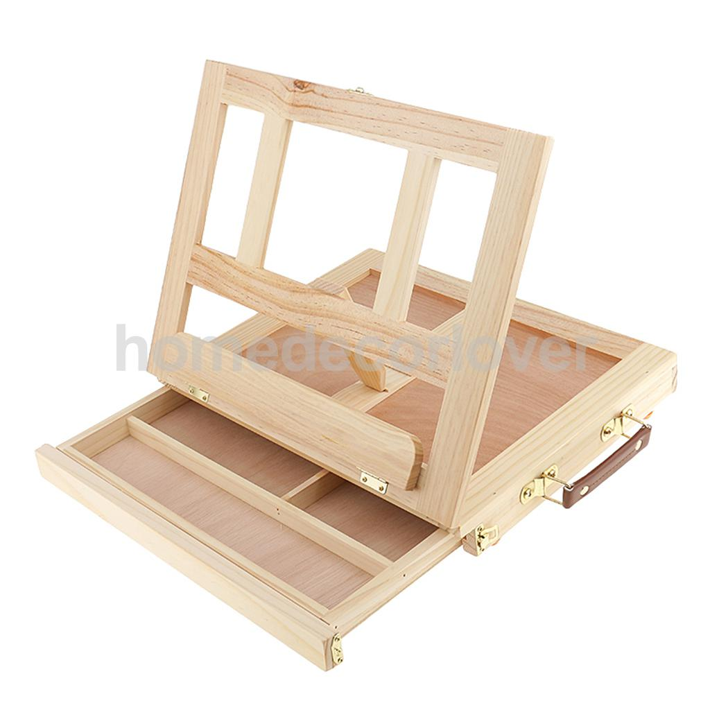 Table top drawing easel - Artist Wood Tabletop Portable Painting Table Desk Box Easel With Storage Drawer China