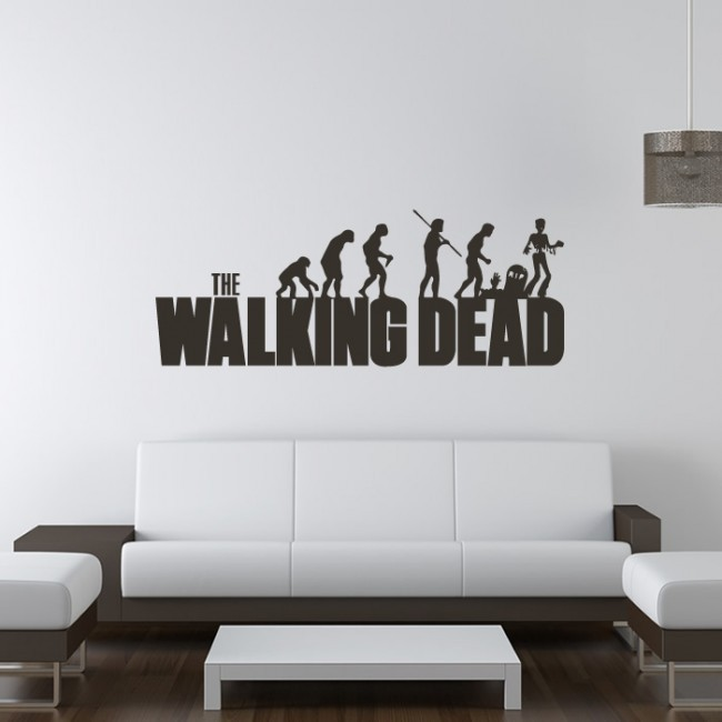 The Walking Dead Evolution Wall Sticker The Walking Dead Wall Art Banksy  Vinyl Wall Art Wall Stickers Home Decor 4 Sizes In Wall Stickers From Home  U0026 Garden ...