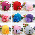Hot Cute Baby Beanie Hats For Girls Beautiful Charming Flower Soft Cotton Baby Hats Girls Spring Autumn Hats Children's Cap