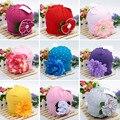 Hot bonito do bebê beanie chapéus para meninas bonito encantadora flor chapéus de algodão chapéus do bebê meninas primavera outono das crianças cap