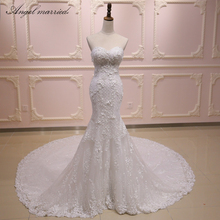 Angel married wedding Dresses mermaid white
