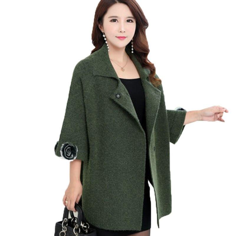 Des Wine red Colour Manteau green Veste De Et Laine Printemps caramel Lâche Taille Dark Femmes Coréen Dames Grande Gray Automne Élégant Cachemire 1AnT8Ug