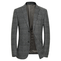 Wool Blazer Men 2018 Autumn New Fashion Winter Mens Casual Slim Fit Blazer Jacket Mens Single Breasted Business Blazer Masculino