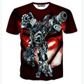 New Transformers 3D T Shirt Men Tshirt Homme 2016 Mens Fashion Hero Printed Funny T shirts Slim Elastic Tee Shirt T-shirt Men
