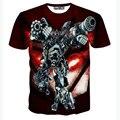 Novos Transformadores 3D T Shirt Homens Camiseta Homme 2016 Mens Moda herói Impresso camisas Engraçadas de T Camiseta T-shirt Dos Homens Magros Elásticas