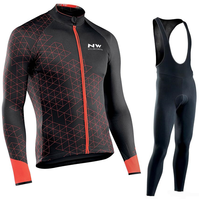 NW 2019 Pro Team Jersey Autumn Northwave Men's Long Sleeve Outdoor Breathable Cycling Bicycle Mountain Bike Set