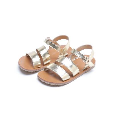 Girls sandals baby gladiator sandals gold toddler sandals kids beach shoes 2020 summer children fashion quality toddler casual sandals