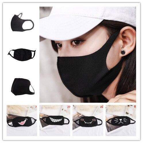 Men Women Cotton Dust-proof Warm Dust Mouth Masks For Autumn And Winter Black Color Anti-dust Mask 8c1102 Men's Accessories Men's Masks