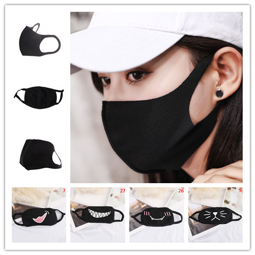 1PC Unisex Soft Cotton Mask Winter Breathing Black Anti-Dust Mask Mouth Face Cover Multi Style For Men Women