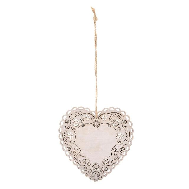 1pcs hollow out heart shaped small hangings love wooden ornaments